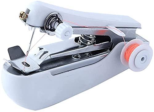 Auoeer Máquina de Coser Manual de Mano Máquina de Coser portátil Multifuncional Máquinas de Coser Herramienta para Bordados inalámbricos Color Aleatorio