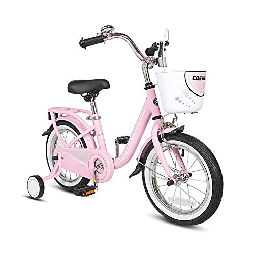 Product Image of the COEWSKE Kid's Bike Steel Frame Children Bicycle 14-16 Inch with Training...