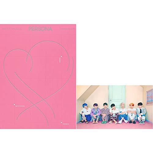 BANGTAN BOYS BTS Map of The Soul : Persona (Version 3) Album CD+Poster+Photobook+Mini Book+Photocard+Postcard+Photo Film+(Extra BTS 6 Photocards+1 Double-Sided Photocard)