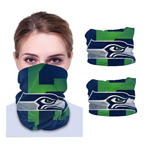 Pinakoli Seattle Seahawks 2 Pieces Neck Gaiter Multiuse Headbands Sun Proof Headband Bandana
