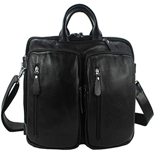 Travel Bags Fashion Multifunctional Travel Bag Men's Leather Luggage Travel Bag Duffel Bag Tote Bag Weekend Bag Travel Bags For Men And Women (Color : Black, Size : 30x40x15cm)