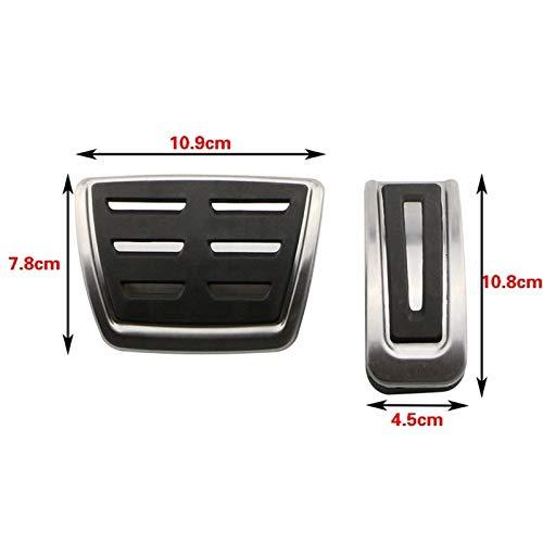 DPFXNN Stainless Steel Car Kupplungs Gas Bremspedale Abdeckung for Seat Arosa Ibiza...