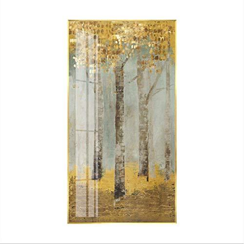 LIYOUPIN Fortune árbol murales Verticales, Porche Resumen Grabados, Pasillo del Pasillo murales, Pinturas de Feng Shui Verticales, Pinturas Modernas, Cuadros Decorativos,60 * 80 cm