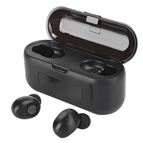 Fones de ouvido sem fio, fone de ouvido, fone de ouvido com emparelhamento inteligente estável e durável, para esportes, atividades ao ar livre, telefone,(F9-38 touch three display black)