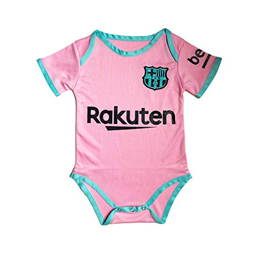 ODOSAN Football Club Baby Bodysuit Comfort Jumpsuit for 0-18 Months Infant and Toddler New Season (Barcelona 3, 9-18 Months Baby)