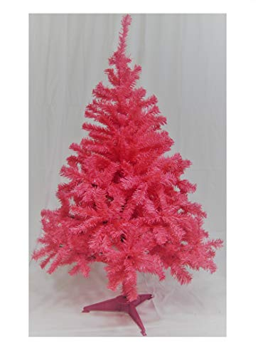 Holiday Basics 4 Foot Artificial Christmas Tree with 350 Tips (Pink)