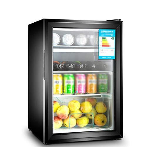 YX Mini Fridge Refrigerador y Enfriador de Bebidas, con Puerta de Vidrio Transparente para Soda, Cerveza o Vino, Ajuste de la Perilla del compresor, Temperatura Digital para el hogar, la Oficina, el