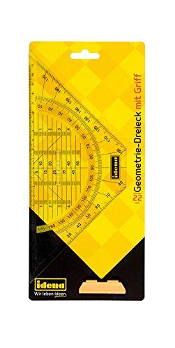 Idena 602043 - Geodreieck mit Griff, 22 cm, transparent, 1 Stück