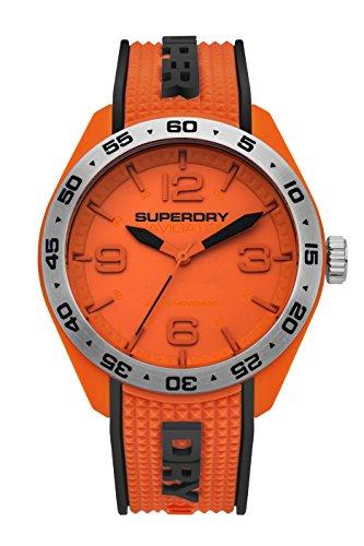 Superdry Reloj Analógico para Hombre de Cuarzo con Correa en Silicona SYG213O