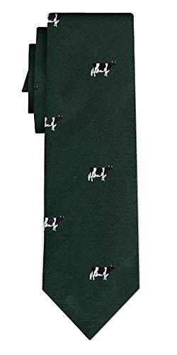 Cravate cows on dark green