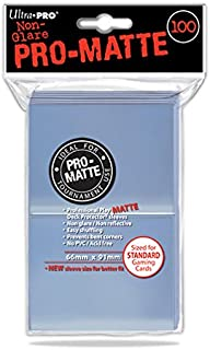 Ultra Pro 84731 Standard Pro Matte Card Sleeves, Clear