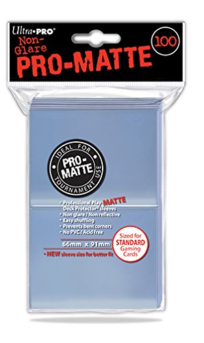Ultra Pro- Pro-Matte Clear Standard Size Deck Protector Sleeves (100), Color (E-84731)