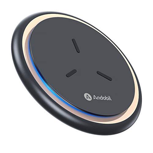 andobil Wireless Charger Ladepad 15W [Absolut Sicher & Schnellladungen] Qi Fast kabellose Ladegerät induktive Ladestation für iPhone 12, 12 pro, 11, 11 Pro, XS, Samsung Galaxy S21, S20, Note20 usw