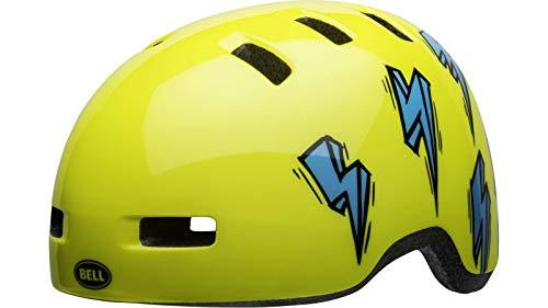 Bell Unisex Jongeren Lil Ripper fietshelm Kids, hi-viz/Blue Bolt, eenheidsmaat