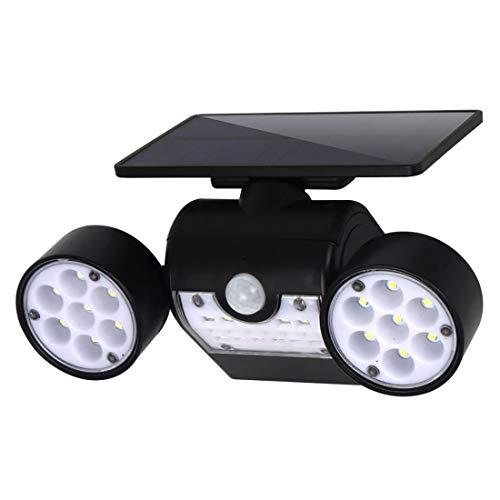 yiteng 30個LED ライトソーラー ソーラーパネルモーションセンサー付き ダブルライト 省エネ IP65 IP65防水 360°調整可能 防犯対策 太陽子充電 屋外照明 夜間自動点灯 屋外の歩道 ガーデン 玄関先 芝生 庭などの照明用