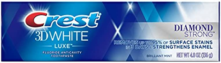 Crest 3D White Luxe Diamond Strong Whitening Toothpaste, Brilliant Mint, 4.8 oz