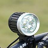 GHB Faro per Bici Faro MTB 3X CREE XM-L T6 3600LM 4 modalità Ricaricabile con Fanale Post...