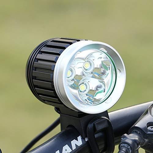 GHB Faro per Bici Faro MTB 3 T6 CREE XM-L 4000LM 4 Modalità Ricaricabile Impermeabile IPX6 con Fanale Posteriore per Ciclismo
