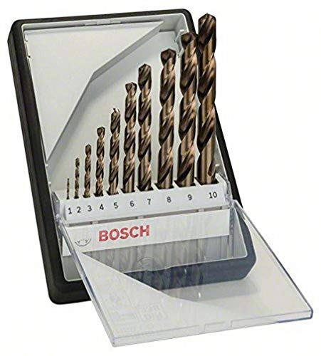 Bosch 2607019925 HSS-Co Metal Drill Bits, Gold, Pack of 10