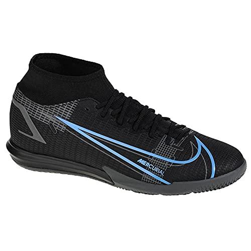 Nike Mercurial Superfly 8 Academy IC, Zapatillas de ftbol Unisex Adulto, Black Black Iron Grey, 44.5 EU