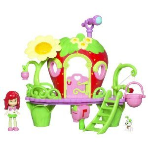4KIDS Toy / Game Strawberry Short Cake Berry Bitty Clubhouse with Front Stairs, Telescope & Paper Letter Accessories