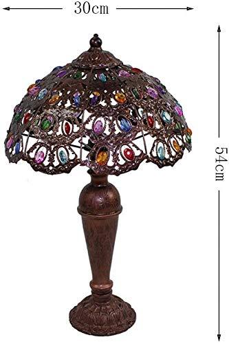 MARUA Schöne Und Kreative Augenschutz Lampe, Tiffany-Art-Farbe Tischlampe Pastoral Plexiglas Schlafzimmer Nacht Study Dekoration