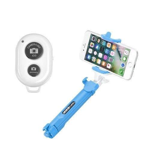 OZZZO Bastoni Selfie treppiede Bluetooth Blu per ASUS ZenFone 4 Max PRO ZC554KL