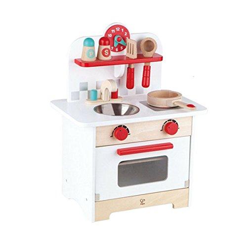 Hape Gourmet Kitchen Kid s Wooden Play Kitchen in Retro Red