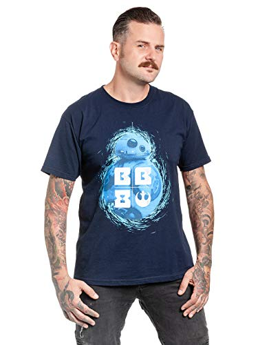 Star Wars BB-8 Männer T-Shirt Navy XL 100% Baumwolle Fan-Merch, Film, TV-Serien