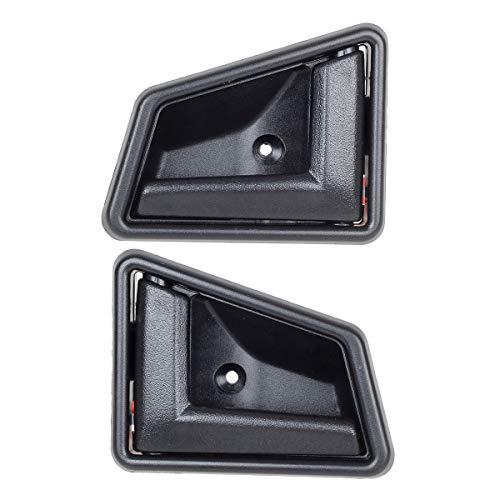 AUTEX 2pcs Black Interior Door Handles Set Front/Rear Left Right Driver Passenger Side Compatible with Tracker Sidekick 89-97 8311056B015ES 8313056B015ES