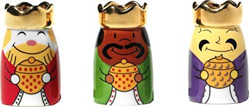 Alessi AMGI10SET1 Figuras de Diseño de los Reyes Magos en Porcelana Decoradas a Mano, 3 Piezas