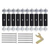mjjesports 10 pc cassetta riparazione parti montaggio a parete scatola di giunzione caso di riparazione dispositivo per 118 parete piastra interruttore