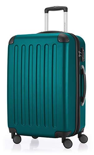 HAUPTSTADTKOFFER - Spree - Hartschalen-Koffer Koffer Trolley Rollkoffer Reisekoffer Erweiterbar, TSA, 4 Rollen, 65 cm, 74 Liter, Aquagrün
