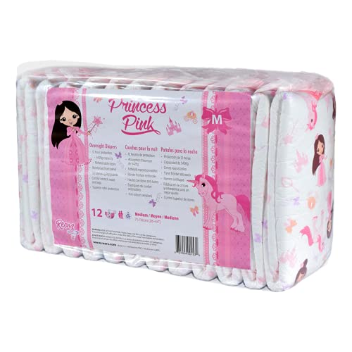 Rearz - Princess Pink - Overnight Adult Diapers (10 Pack) (Large)