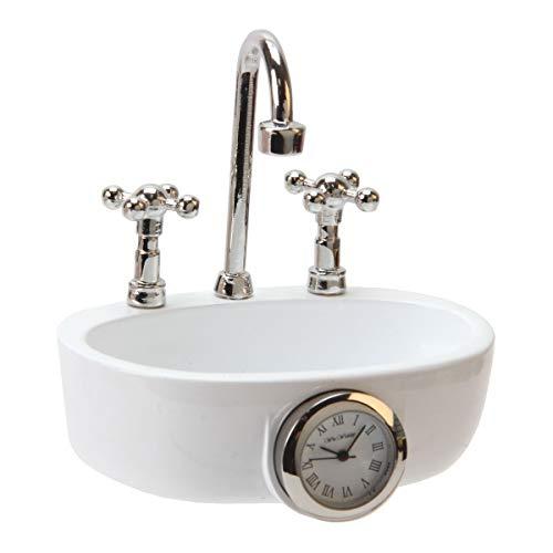 The Emporium Miniature Clocks Watch 9602 White Metal Strap