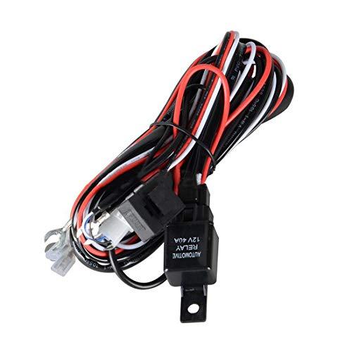 Adecuado para el coche Kit de arnés de cableado de relé automotriz de 3.5mm 12V para el interruptor de enchufe de la barra de alambre de luz de trabajo LED para el adaptador de enchufe de enchufe de O