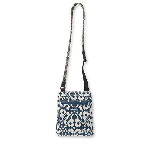 KAVU Keepalong Semi Padded Sling Canvas Rope Crossbody Bag - Blue Blot
