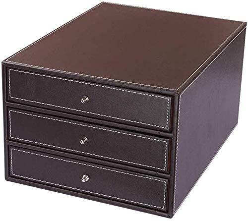 File Cabinet bestandhouder product delivery cyclus goede luchtdoorlatendheid met hoge dichtheid plank hoogwaardige flanel natuur korrelheid leer opbergdoos bruin