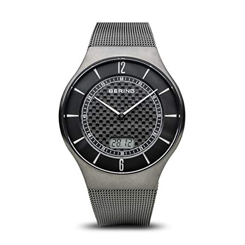 BERING Herren Analog Funk Collection Armbanduhr mit Edelstahl Armband und Saphirglas 51640-072