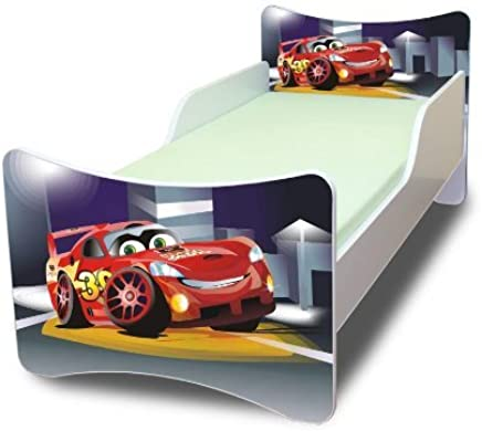 Best For Kids CHILDREN S BED with foam mattress with T V CERTIFIED 80x180 CARS III