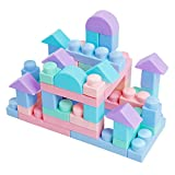 👶 SAFE & SOFT BLOCKS WITHOUT ANY NOISE: Do you want your kids to enjoy their playtime in quiet? Sick of hearing plastic toys' loud dropping noise all the time? While hard blocks may get your little ones hurt when they play, MOOMU's blocks are soft en...