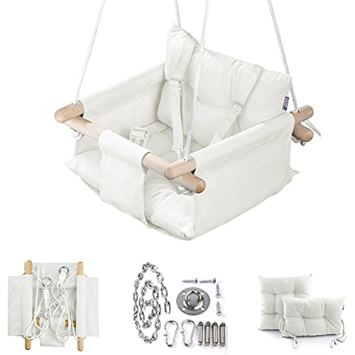 Cateam Columpio de Lona para bebé Marfil - Silla Colgante d