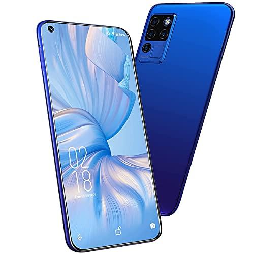 OUKITEL C21 (2021) スマートフォン 本体 simフリー, 20MP AIカメラ 6.4インチFHD+, 4GB + 64GB 4000mAh Android10.0, デュアルSIM顔と指紋のロック解除 4G simフリー スマホ 1 付き (青)