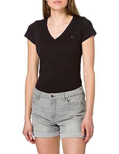 edc by ESPRIT Damen Jeans Shorts, 922/GREY MEDIUM WASH, 27