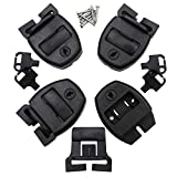 Huouo 4 Set Hot Tub Spa Cover Locks w/Key Pinch Center Release - Strap Buckle Broken Latch Repair Kit with Screws