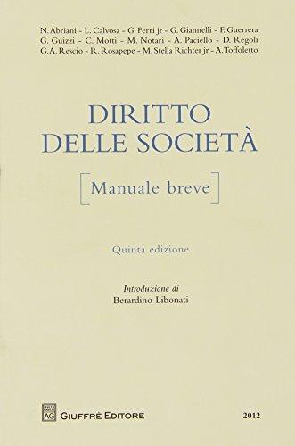 Diritto delle società. Manuale breve