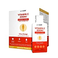 YourZooki - Liposomal Vitamin C 1000mg Liquid Sachets - Alcohol Free, Soy Free, Vegan, Natural Ingredients - Immune System, Skin & Energy Support - Box of 30