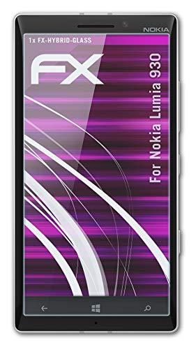 atFolix Glasfolie kompatibel mit Nokia Lumia 930 Panzerfolie, 9H Hybrid-Glass FX Schutzpanzer Folie