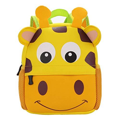 Qucover Mochila para niños, ligera, súper linda, con forma de animal, para niños pequeños, guardería, escuela primaria, impermeable, para niños / niñas, para niños de 2 a 8 años (amarillo)