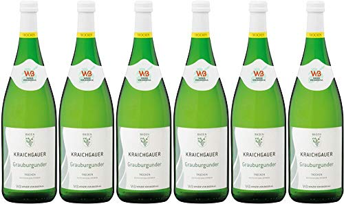 6x Kraichgauer Grauburgunder 2019 - WINZER VON BADEN eG, Baden - Weißwein